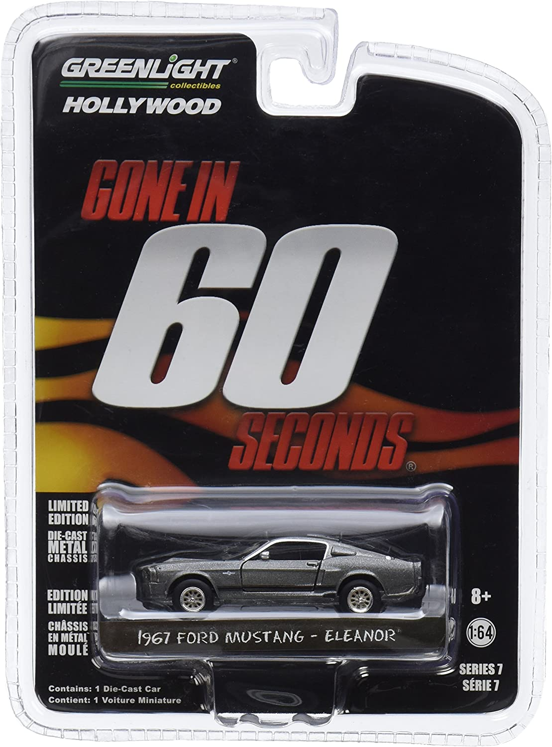 """Greenlight 44742 Gone in 60 Sixty Seconds (2000) """"Eleanor"""" 1967 Ford Mustang Shelby GT500 1/64 Scale"""