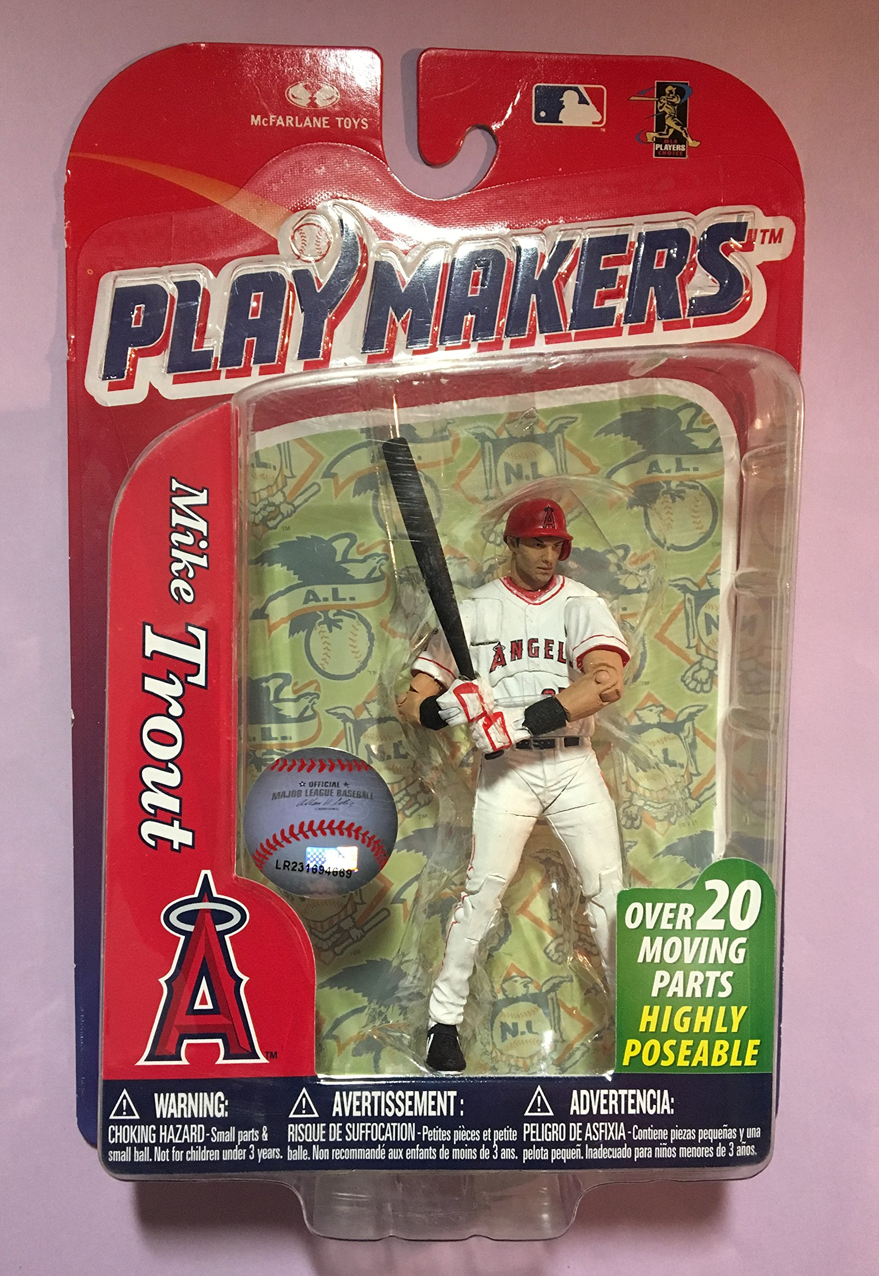 2013 McFarlane Baseball Playmakers Series 4#30 Mike Trout 4 inch Action Figure