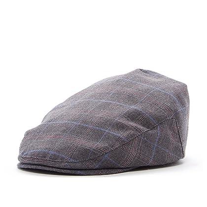 4e510f94a0a Born to Love Flat Scally Cap - Boy s Tweed Page Boy Newsboy Baby Kids  Driver Cap Hat (XS 48 cm Grey Plaid)