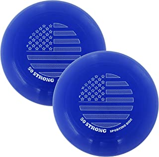 product image for 50 Strong Super Fun 145 Gram Flying Sporting Disc - Best Beach Toy & Gift for Kids and Adults - Great Outdoor Frisbee-Style Game - Made in USA