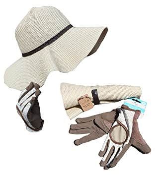 80f218fb562 Sunlily Roll n Go Sun Hat and Digz Women s High Performance Signature  Garden Gloves (Large)  Amazon.ca  Home   Kitchen