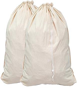 Amazon.com: Bolsa de lavandería de algodón ...