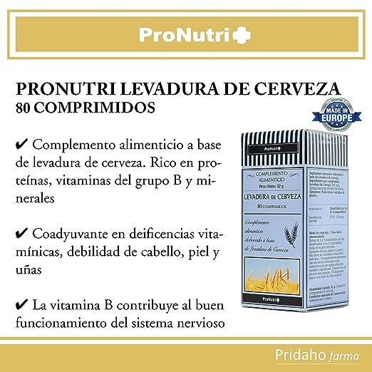 PRONUTRI - PRONUTRI Levadura de Cerveza 80 comprimidos ...