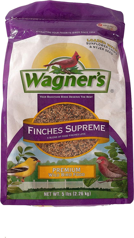 Wagner's 62068 Finches Supreme Blend Wild Bird Food, 5-Pound Bag