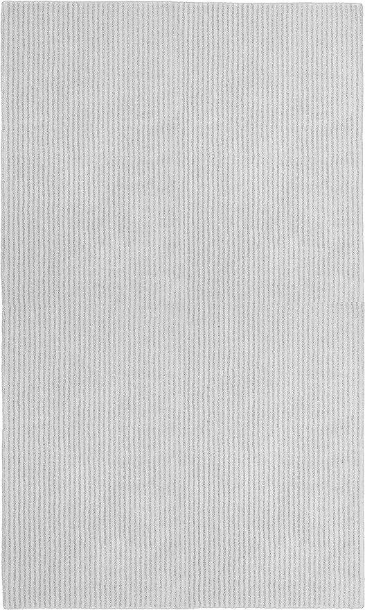 Garland Rug Sheridan 5 Ft X 7 Ft Soft Nylon Plush Washable Area Rug Platinum Gray Furniture Decor