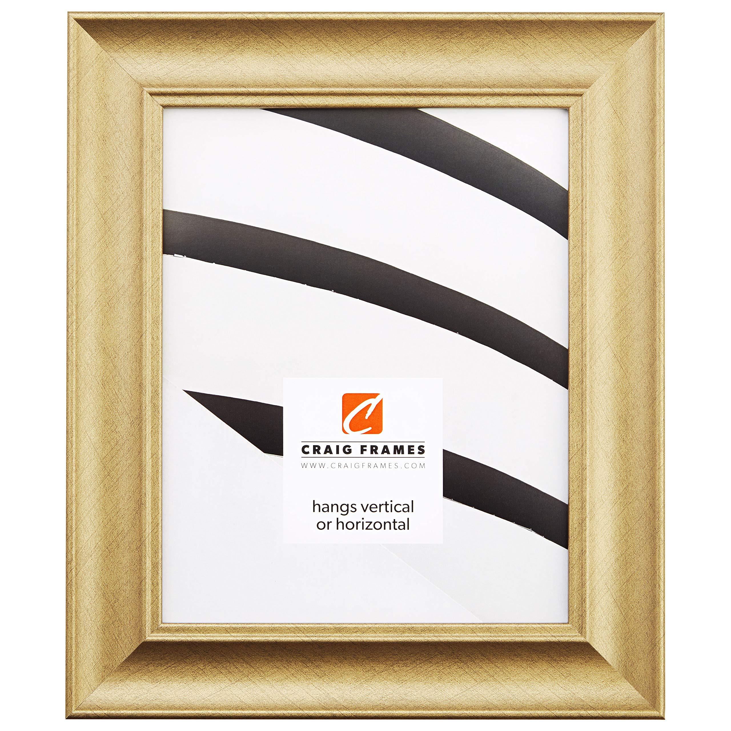Craig Frames Vintage Revival, Brushed Gold Picture Frame, 24 x 36-Inch