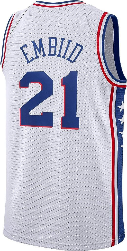 Hombre Ropa Baloncesto Jersey Camiseta Baloncesto Joel Embiid #21 ...