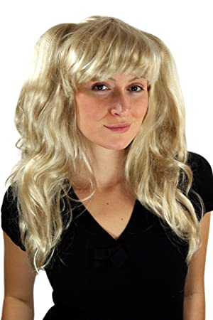 Party/Fancy WIG ME UP - Peluca RUBIA, Cosplay, larga, colas,