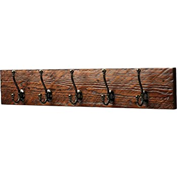 Amazon Rustic Style 40Hook Wooden Coat Rack Distressed Dark Gorgeous Anderson Coat Rack