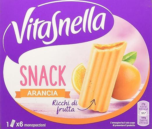 18 opinioni per Vitasnella Snack Arancia Gr.162