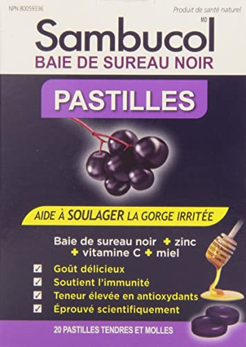 Sambucol Black ElderBerry Pastilles 20