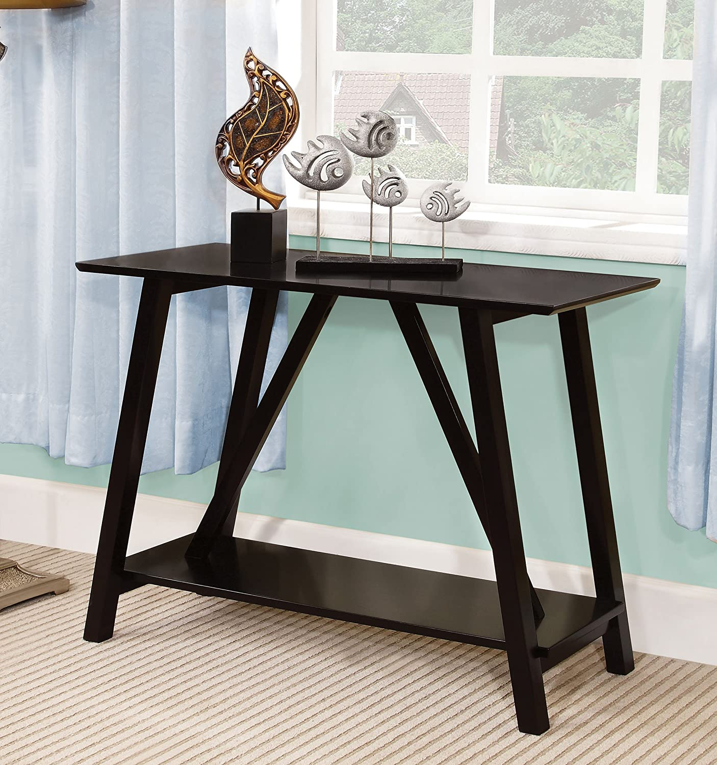 Amazon Furniture of America Sawyer Rectangular Top Console