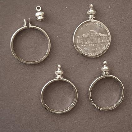 Amazon beadexplosion coin holder bezel for 5 cent usa nickel beadexplosion coin holder bezel for 5 cent usa nickel for charm necklace aloadofball Images