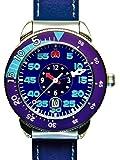 合格時計(ゴウカクトケイ) ジェンツサイズ 42mm ブルー 受験用腕時計