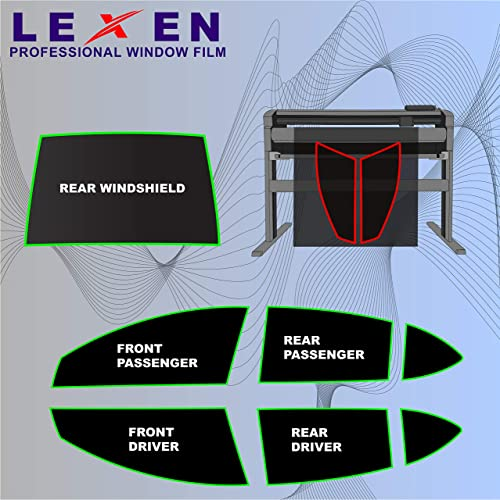 LEXEN 2Ply Carbon All Windows PreCut Tint Kit