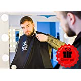 Bear's Beard Beard Apron Bib + Good Gift - Beard Catcher Apron for Trimming Your Beard - to Keep Yourself and your Sink Clean - Perfect Gift for Men – Black