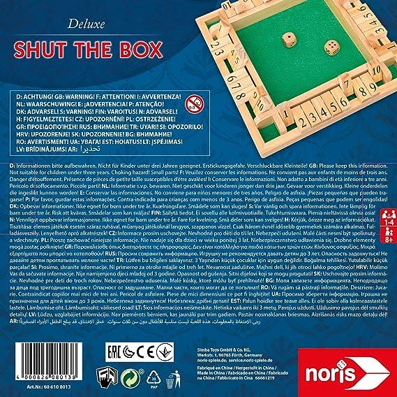 Noris Spiele 606108013 - Deluxe Cierra la Caja, Juego de Sociedad: Amazon.es: Juguetes y juegos