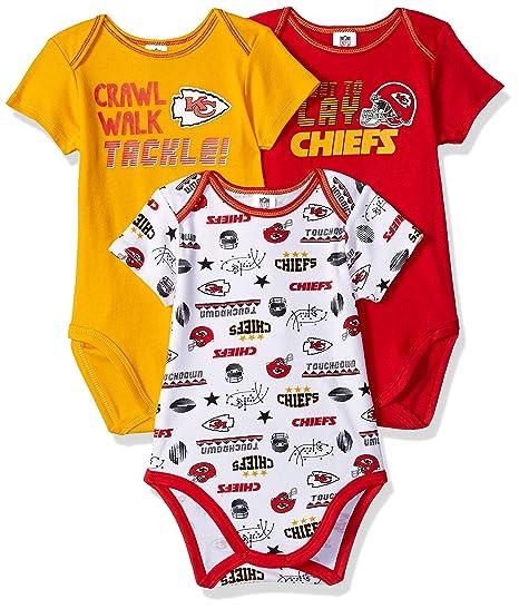dbe3311b Amazon.com : NFL Kansas City Chiefs Unisex-Baby 3-Pack Short Sleeve ...