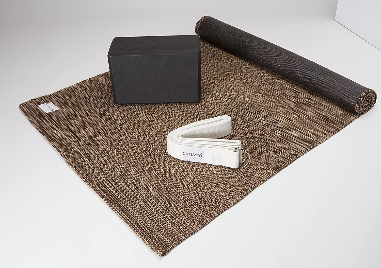 Amazon.com : Sol Living Yoga Beginner Kit 3 Piece Set - 1 ...
