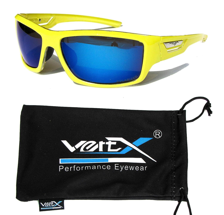 VertX polarisé Neon lunettes de soleil Sport cyclisme en cours d'exécution en plein air – Neon Cadre bleu – Lentille bleu ZJtjc