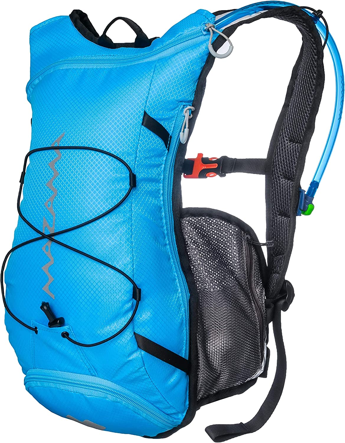 Mazama Tumalo Hydration Pack with 2 or 3 Liter Reservoir, Water Bladder Features USA Made, Taste Free BPA Free Film