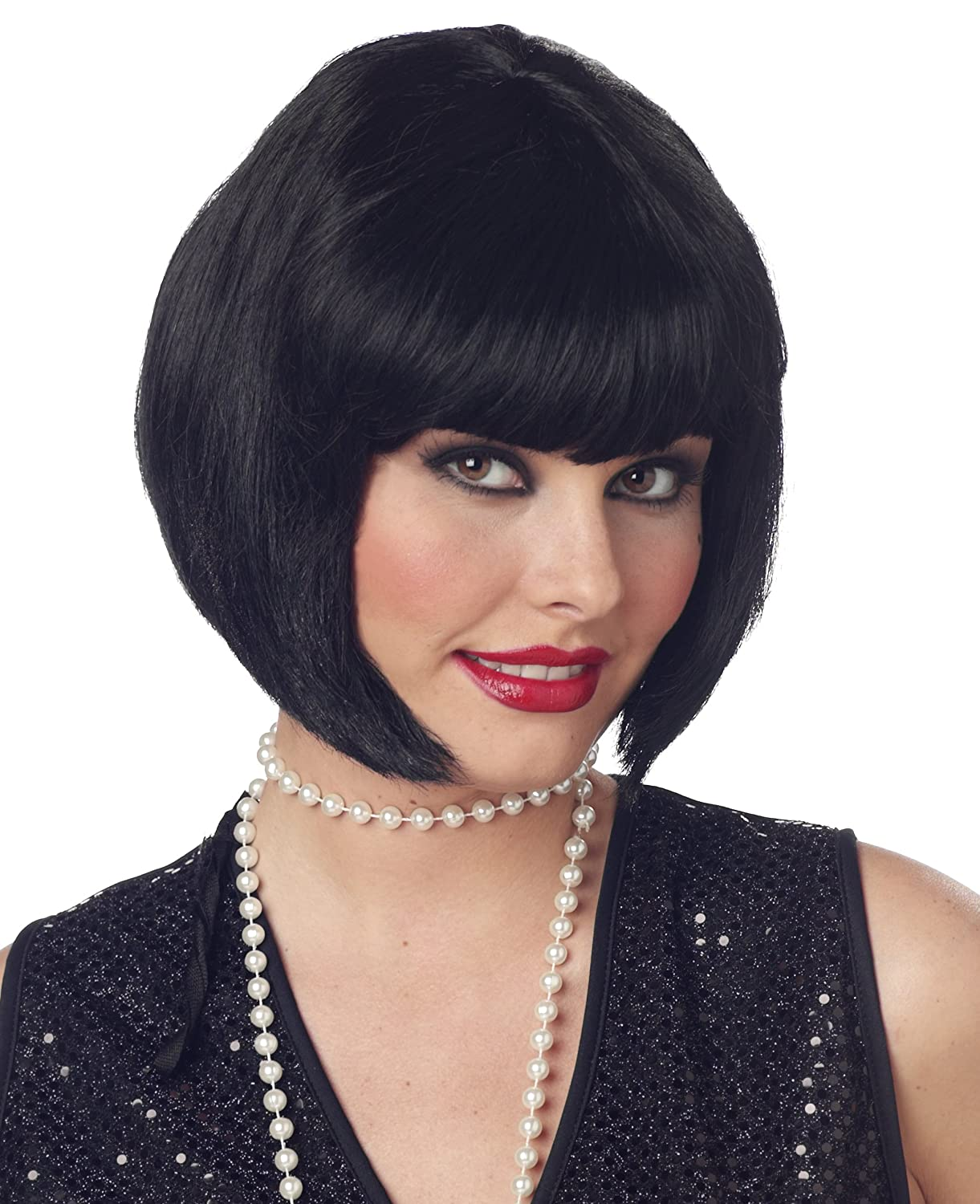 California Costumes Women's Flapper Wig, Black, One Size 70098-Black-One Size
