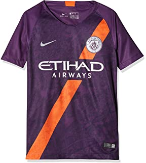 Nike 2018-2019 Man City Third Football Soccer T-Shirt Jersey (Kids) f388df0aa
