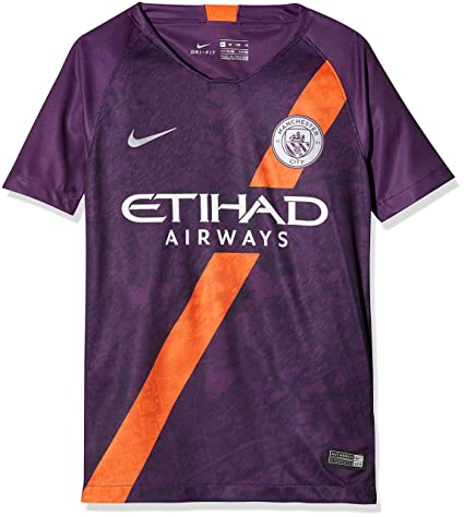 18ed645070 Nike 2018-2019 Man City Third Football Soccer T-Shirt Jersey (Kids)