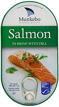 Munkebo Salmon Fillet in Brine with Dill 200 g (Pack of 10)