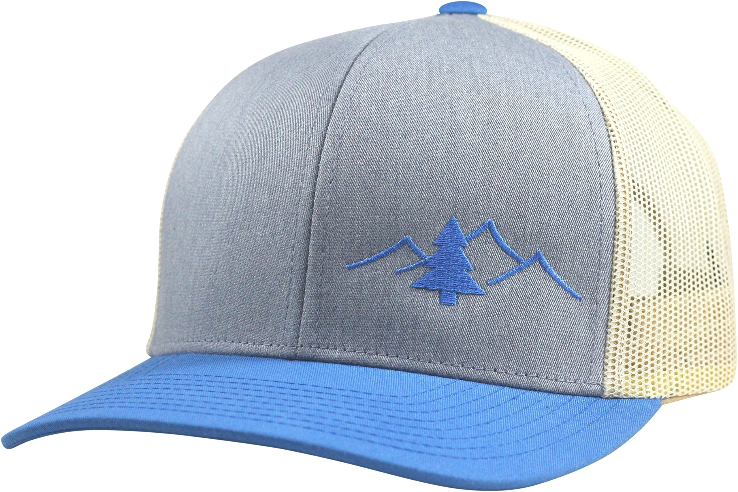 Lindo Trucker Hat - The Great Outdoors - (Heather/Blue/Beige)