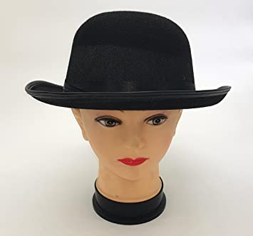 aa5ee6dfa89 Kangaroo Black Derby Hat Have one to sell  Sell now BLACK VELOUR BOWLER  DERBY POSH GENTLEMAN CHARLIE CHAPLIN HAT FANCY DRESS  Amazon.in  Toys    Games