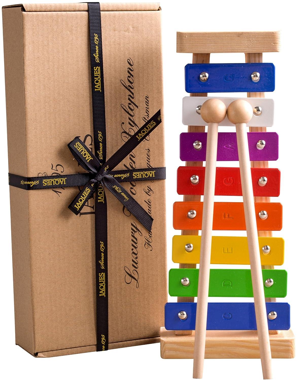 Xylophon - ein großes Musikspielzeug für Kinder & Kinder - das beste Glockenspiel im Sortiment - perfekt für junge Musiker; Lehrinstrument für Schlaginstrumente mit farblich abgestimmten Stimmstäben und Holzhammerschlägen - beste Qualität seit 1795 Jaq