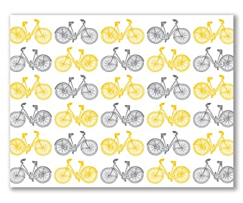 Amazon 12 blank greeting cards mustard yellow and gray 12 blank greeting cards mustard yellow and gray bicycles nancy by two poodle press m4hsunfo