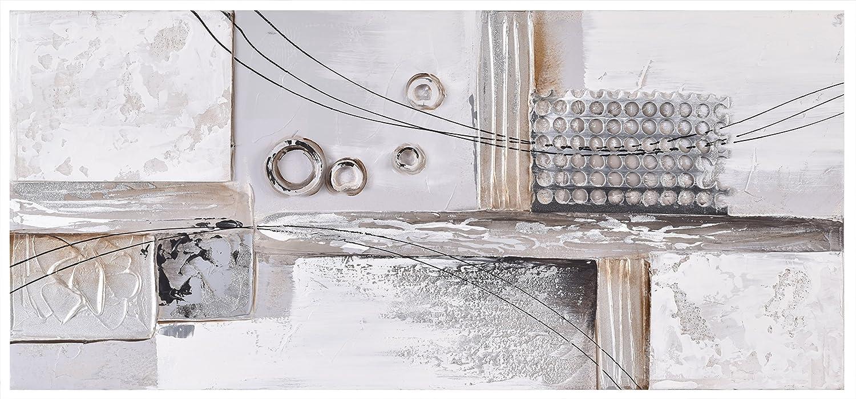 Abstrakt Collage Wandbild Leinwand. Groß, Grau, 3D Abstrakt handbemalt Kunstdruck auf Leinwand. Modernes Abstrakt Leinwand Bild. Fertig zum Aufhängen Art Wand Leinwand für Schlafzimmer, Diele, Küche.
