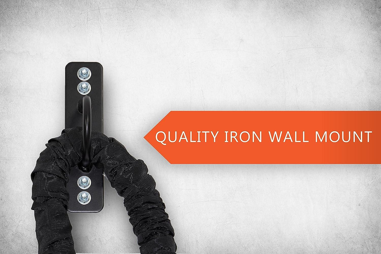 POWRX Corde d/'entra/înement avec housse 38 ou 50 mm de diam/ètre Diff/érentes  longueurs Pour fitness et musculation