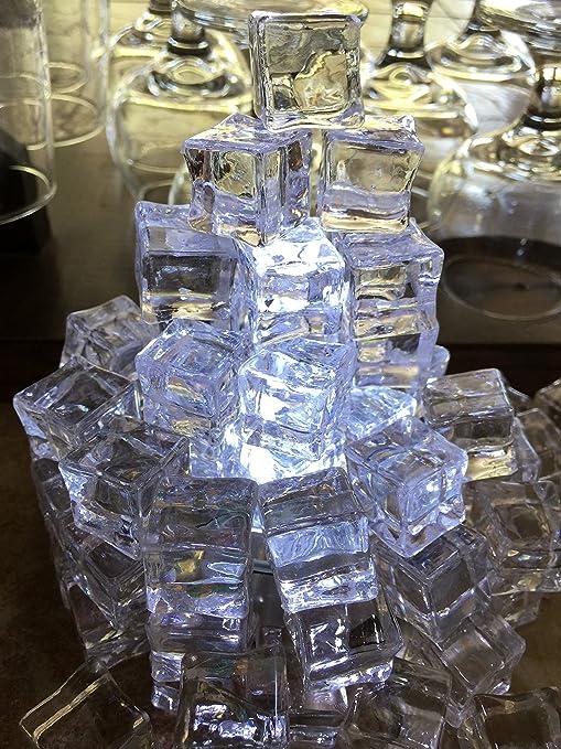Amazon.com: 60 Pcs Acrílico Transparente cubitos de hielo ...