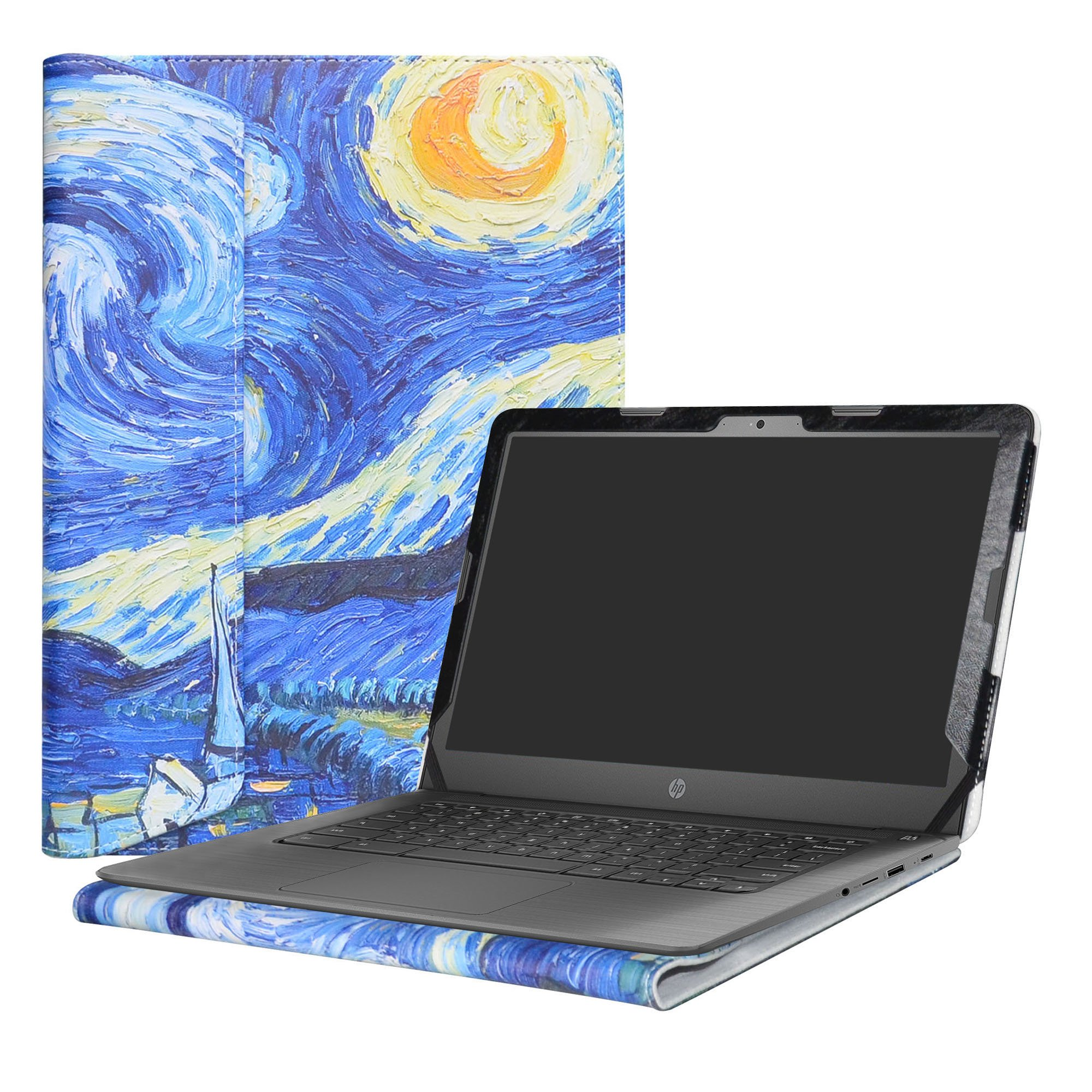 Alapmk Protective Case For 14'' HP Notebook 14-bsXXX (Such as 14-bs153od)/14-bwXXX (Such as 14-bw010nr)/HP 240 G6/HP 245 G6/HP 246 G6 Laptop(Not fit 14-anXXX 14-amXXX 14-cmXXX Series),Starry Night