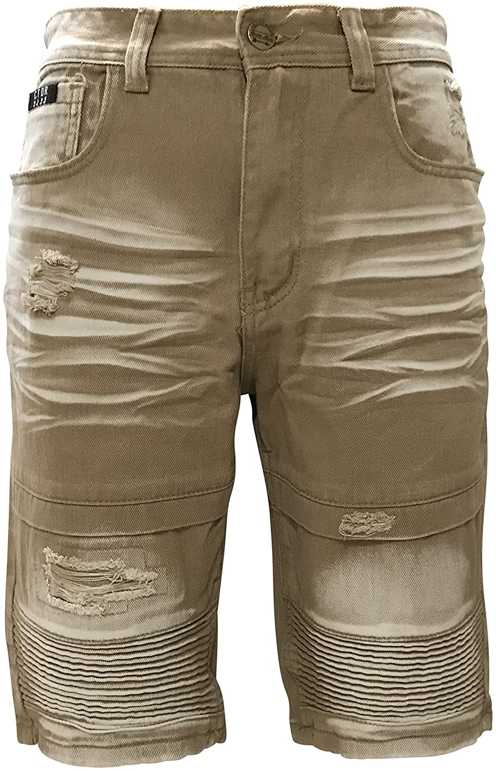 Contender Mens Biker Denim and Twill Shorts 1DS55