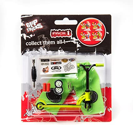 Grips & Tricks Finger Scooter Stunt Pack 1 (Green)