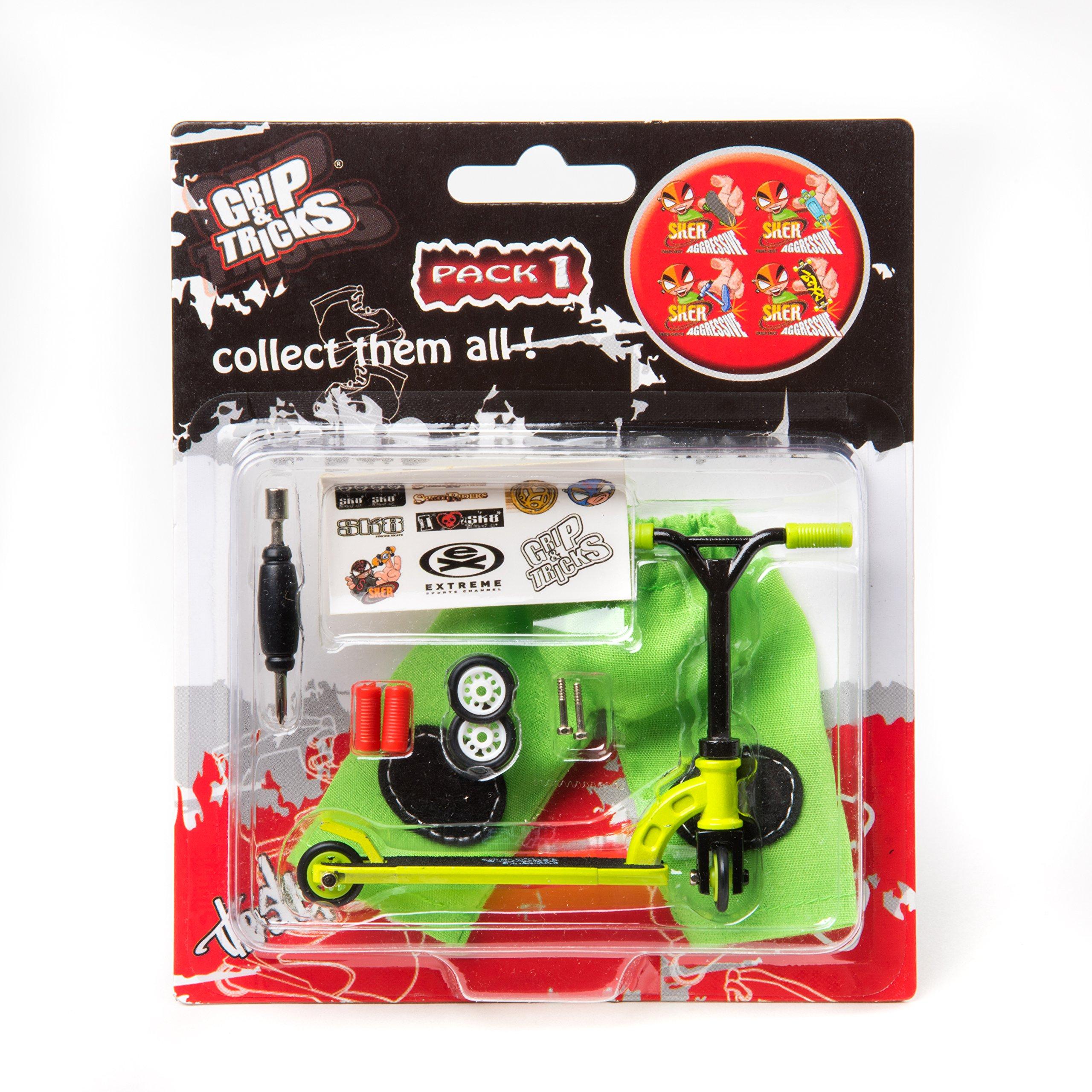 Grips & Tricks Finger Scooter Stunt Pack 1 (Green)