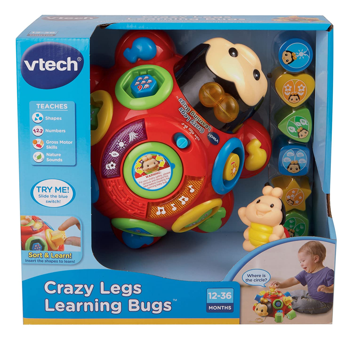 Amazon VTech Crazy Legs Learning Bugs Toys & Games