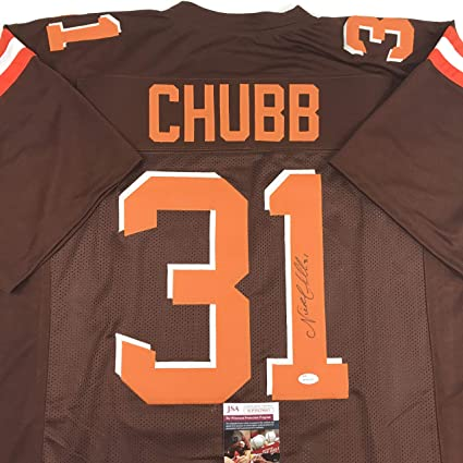 signed nick chubb jersey