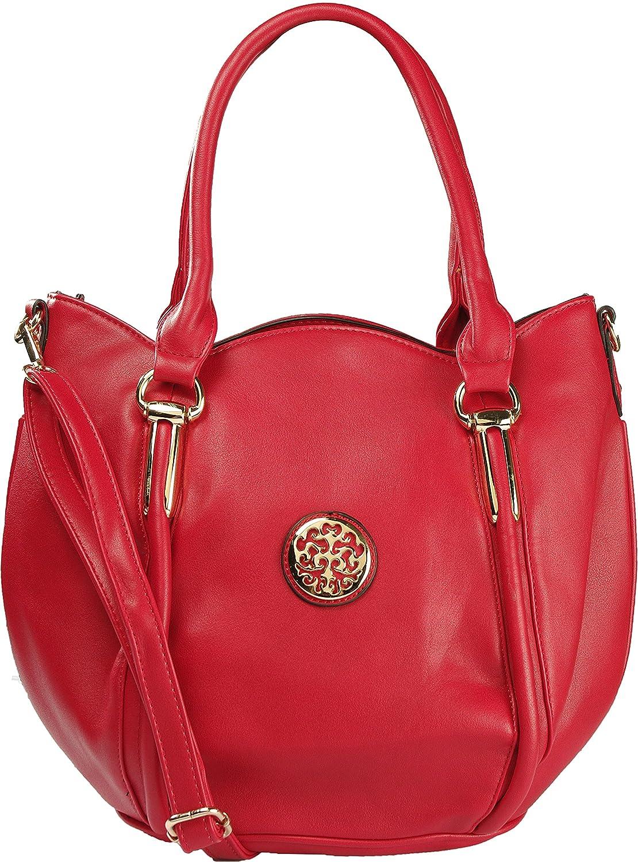 Arcadia Fashion Round Handbag with Gold Tone Medallion GA8261-RD