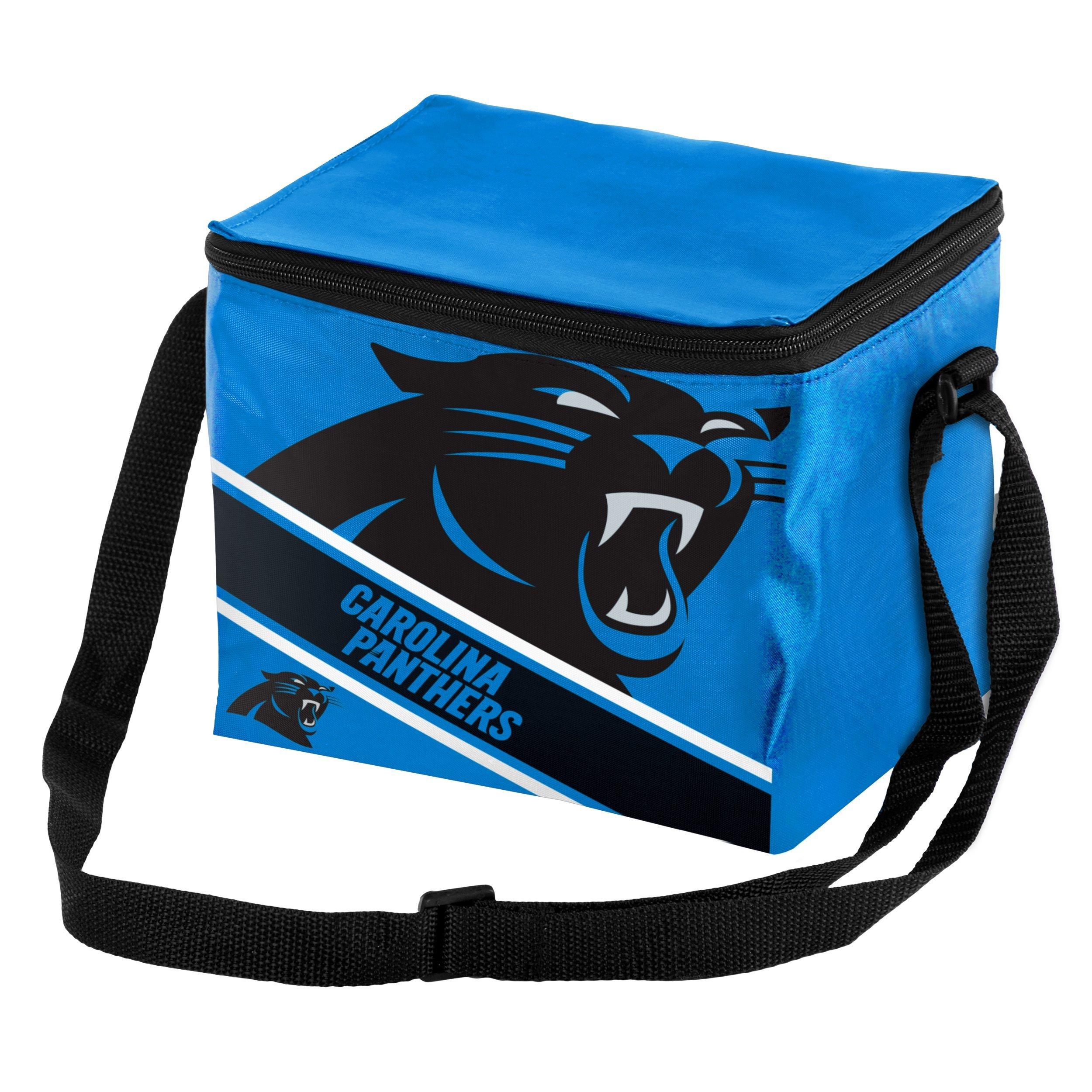 Carolina Panthers Big Logo Stripe 6 Pack Cooler