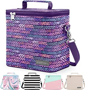 Simple Modern 4L Blakely Lunch Bag for Women & Men - Insulated Kids Lunch Box Pansy Petals