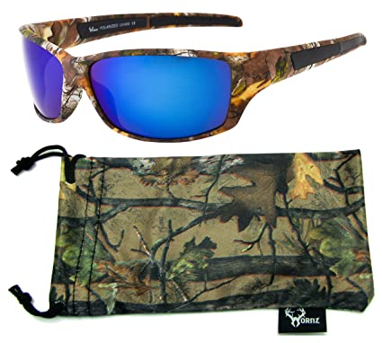 89a1305792 Hornz Brown Forrest Camouflage Polarized Sunglasses for Men Full Frame    Free Matching Microfiber Pouch –