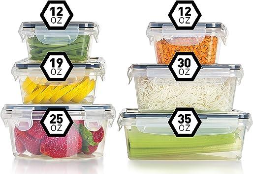 amarillo 24 Etiquetas Jarras de Almacenamiento de Pl/ástico con Tapa Herm/ética Sin BPA,Juego de 9 Vtopmart 1.6L Recipientes para Cereales Almacenamiento de Alimentos para harina,caf/é
