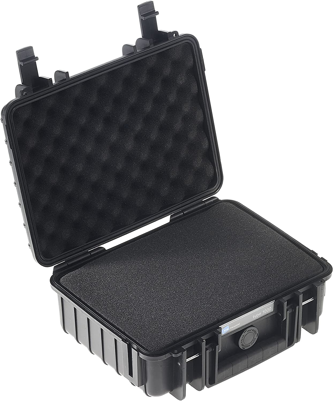 B/&W Würfelschaum outdoor.cases vorgestanzt für Werkzeugkoffer Typ 1000 schwarz