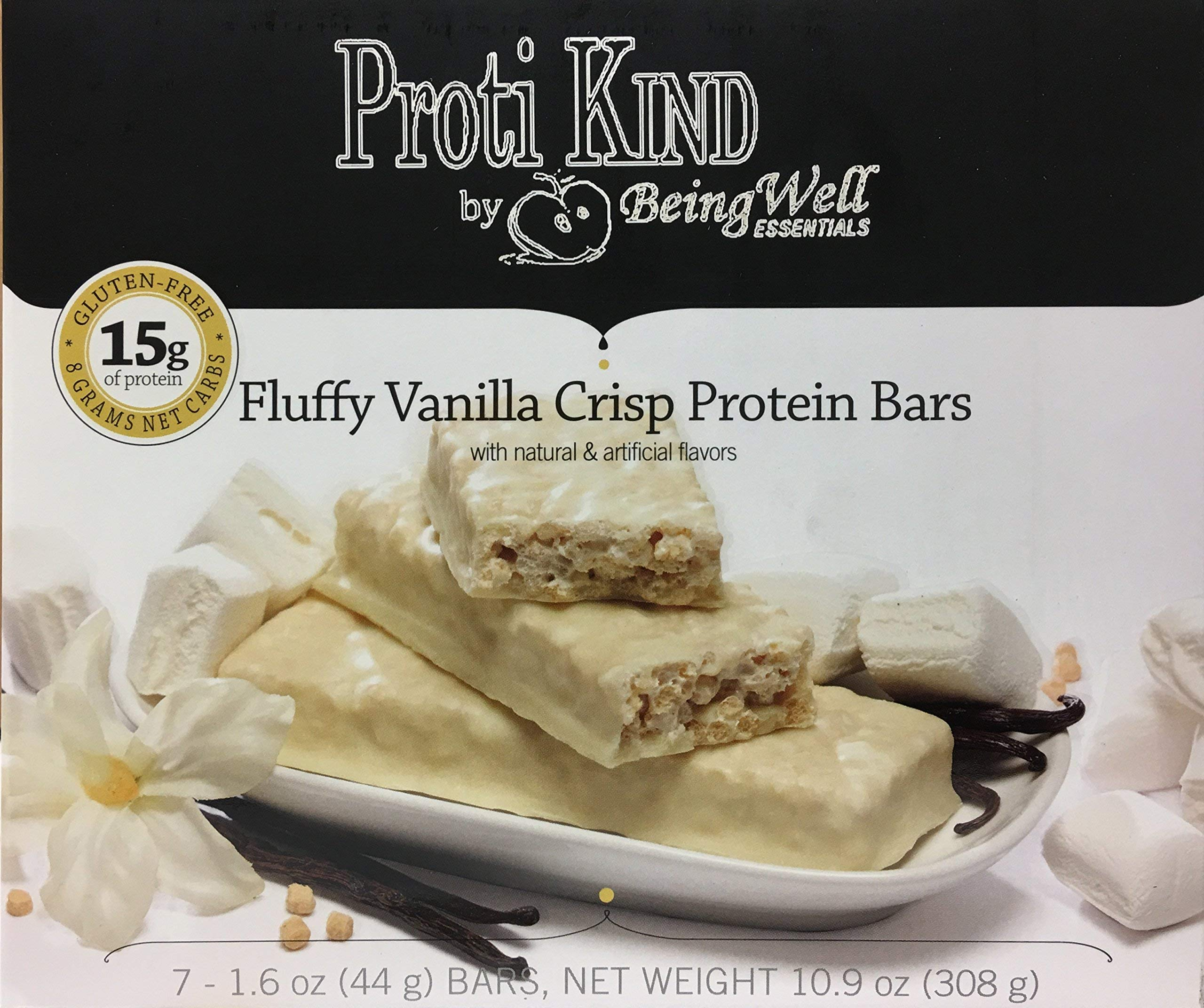 Proti Kind Very Low Carb Fluffy Vanilla VLC Bars - Full CASE - 84 Bars by Being Well Essentials (Image #1)