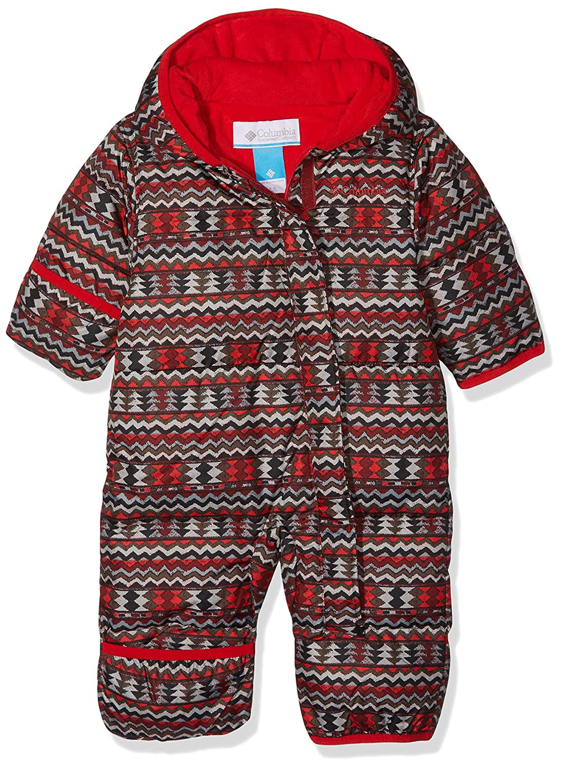 Columbia Snuggly Bunny Bunting Red Element Zigzag//Red Spark 18//24 Messi Rosso Tuta da Neonato Unisex-Bimbi 0-24